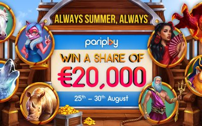 Sizzling Hot Summer Prizes with Pariplay's Tournaments Leaderboard Network Promotion